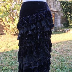 *Sample* Ruffled maxi skirt
